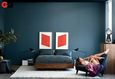Bedroom - Farrow & Ball Stiffkey Blue Paint (http://us.farrow-ball.com/stiffkey-blue/colours//fcp-product/100281)