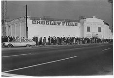 Before Riverfront, there was Crosley. West Carrollton, Mlb Stadiums, Cincinnati Reds Baseball, History Pics, Stadium Tour, Baseball Stuff, Ancient Beauty, Washington Nationals, San Francisco Giants