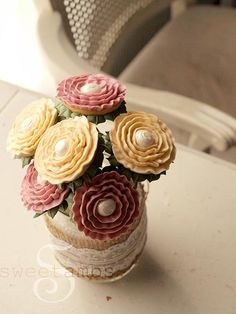 "Cookie Bouquets by Sweet Ambs - cute little 1 1/2"" cookies"