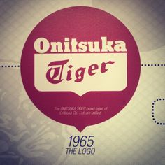 The ONITSUKA TIGER brand logos of Onitsuka Co. were unified in 1965.