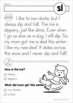 Phonics Reading, Kindergarten Reading, Kids Reading, Teaching Reading, Esl Learning, Kindergarten Curriculum, Reading Comprehension Worksheets, Reading Passages, Reading Practice