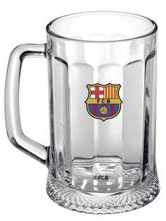 Kufel dla kibiców Dumy Katalonii. Wykonany z bezbarwnego szkła półlitrowy kufel opatrzony został logiem legendarnego klubu z Barcelony.