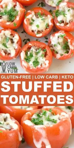 Stuffed Tomatoes with Meat and Cheese  4 July Independence Day