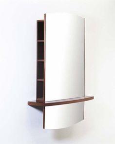 armario de pared con espejo