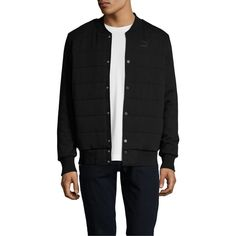 Puma Men's Padded Bomber Jacket - Size M ($45) ❤ liked on Polyvore featuring men's fashion, men's clothing, men's outerwear, men's jackets, no color, mens quilted bomber jacket, mens quilted jacket, mens bomber jacket, mens padded jacket and mens jackets