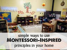 Easy Ways to Use Montessori At Home - These simple principles can help you incorporate Montessori at home for child-led learning with scaled furniture, workstations and resources.