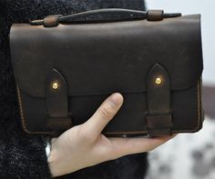 Handmade genuine leather handbagWristlet by FocusmanLeather, $108.00