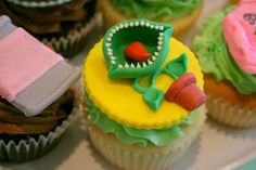 Ok, not a cocktail, but we REALLY wanted to serve cute cupcakes like this....we are unable to find a source we could afford...so we continue to dream :)   LSOH Sept 2014 #carrollwoodplayers #dontfeedtheplants #theatre #tampa