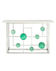 Globo+Fretwork+Console+by+Jonathan+Adler+at+Neiman+Marcus.