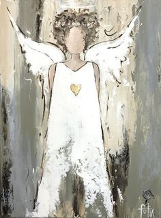 Original Artwork by Anita Felix Angel Pictures, Art Pictures, Christmas Angels, Christmas Art, Christmas Paintings On Canvas, Angel Art, Art Journal Inspiration, Watercolor Paintings, Angel Paintings