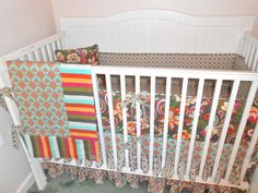 Cabana Blooms Crib Bedding Set in Pink and by butterbeansboutique, $405.00