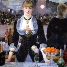 Manet - bar at the Follies Bergere There's so much geometric repetition if you look for it.