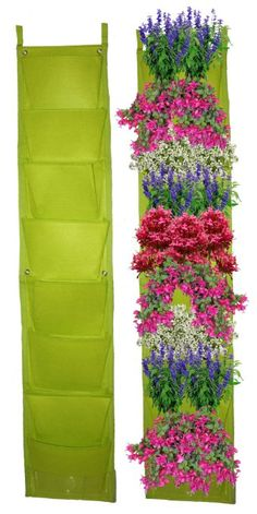 8 Pocket Vertical Garden Planter By Invigorated Living, Waterproof Garden Pots for Indoor & Outdoor Use on Patios, Balconies & Apartments, Easy to Hang & Fill with Flowers, Herbs & Vegetables Vertical Herb Gardens, Vertical Planting, Vertical Garden Planters, Backyard Planters, Balcony Garden, Living Wall Planter, Gallery Wall Layout, Garden Whimsy, Herbs Indoors