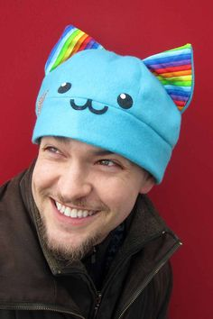 A sorted kitty hats by AthenasWink on Etsy, $20.00