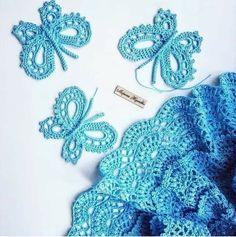Crochet Butterfly Pattern, Crochet Lace Edging, Crochet Chart, Thread Crochet, Irish Crochet, Crochet Doilies, Crochet Flowers, Crochet Baby, Crochet Hair Accessories