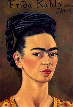 Self-Portrait in Red and Gold Dress, 1941