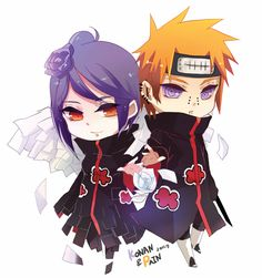 Chibi Pain and Konan, Naruto Shippuden