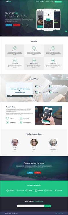 TheOne is a beautiful and functional #bootstrap template for #app #marketing landing page websites with 18+ multipurpose homepage layouts download now➩ https://wrapbootstrap.com/theme/theone-landing-page-template-WB07111NF?ref=datasata
