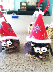My Cotton Creations: Kids Craft, Owl Pinecone Ornament