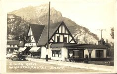 Banff AB Dining Room Homstead Hotel Byron Harmon Real Photo Postcard