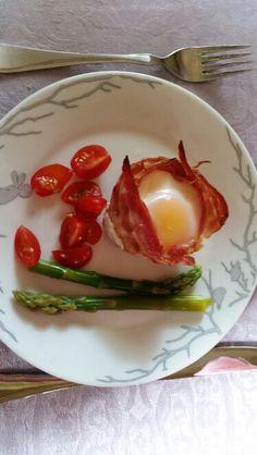 Egg i baconkopp - Trines matblogg