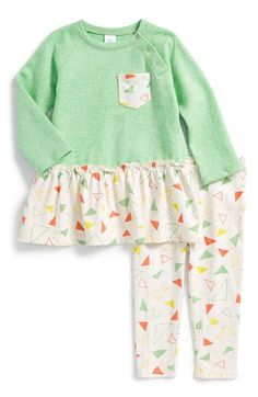 Stem+Baby+Organic+Cotton+Ruffle+Tunic+&+Leggings+(Baby+Girls)+available+at+#Nordstrom