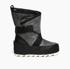 UN Snow bootie Black + Grey | mini boot, few snow and maxi style