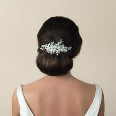 Pearl and crystal bridal hair comb | Catalina pearl and crystal bridal comb | Ivory and Co