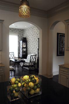Toile wallpaper brunschwig fils pagoda cabinets for Interior design lafayette la