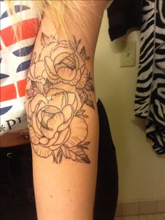 Got a beautiful peonies tattoo today for my momma :)