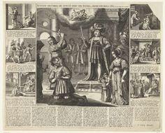 Anonymous | Rechtspraak van Karel de Stoute over de gouverneur van Zeeland, ca. 1474, Anonymous, Salomon Savery, 1610 - 1678 | Rechtspraak van Karel de Stoute over de gouverneur van Zeeland, ca. 1474. De gouverneur van Zeeland (of Gelderland) doodt de man (P. Stalins) en verkracht de weduwe. De hertog dwingt de gouverneur eerst met de weduwe te trouwen en laat hem vervolgens onthoofden. Ook bekend als het verhaal van Rhynsault en Saphira. Man, Painting, Painting Art, Paintings, Drawings
