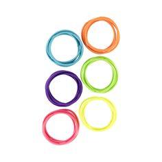 30 Pack Neon Hair Elastics | Kmart