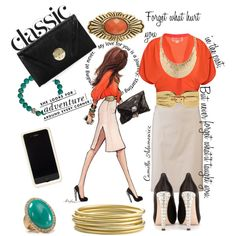 Inslee by Design: Bold Orange and Gold, created by camilla-adamowicz on Polyvore