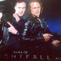 Sam Heughan and Luke Neal at Halofest