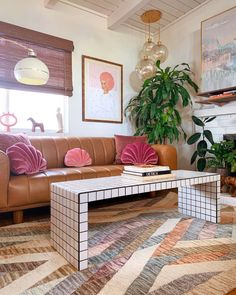 Decoration Inspiration, Room Inspiration, Decor Ideas, Ikea Ideas, Retro Apartment, Colorful Apartment, Tiled Coffee Table, Coffee Tables, Casa Retro