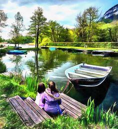 Sisters at Pond