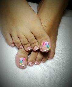 Pretty Toe Nails, Cute Toe Nails, Pretty Toes, Toe Nail Art, Bridal Nails Designs, Toe Nail Designs, Summer Acrylic Nails, Summer Nails, Short Gel Nails