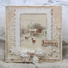 A beautiful christmas card by Anne Kristine of Pion design in Sweden