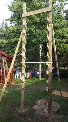DIY blueprints on how to build a salmon ladder Backyard Jungle Gym, Backyard Fort, Backyard Obstacle Course, Kids Obstacle Course, Backyard Playground, Backyard For Kids, Backyard Projects, Outdoor Projects, Outdoor Games For Kids