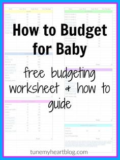 FREE BUDGETING FOR BABY WORKSHEET: how much does it cost to have a baby? This simple process will help you plan for a new baby, regardless of how big your budget is.