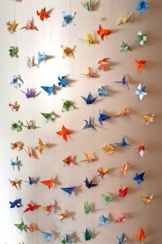 Shop for origami on Etsy, the place to express your creativity through the buying and selling of handmade and vintage goods. Origami Garland, Origami Flowers, Flower Garlands, Art Projects, Projects To Try, Diy Organization, Crafts For Kids, Paper Cranes, Handmade Gifts