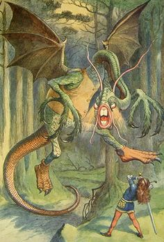 "Alice in Wonderland: John Tenniel illustration for Lewis Carroll's ""Jabberwocky"""