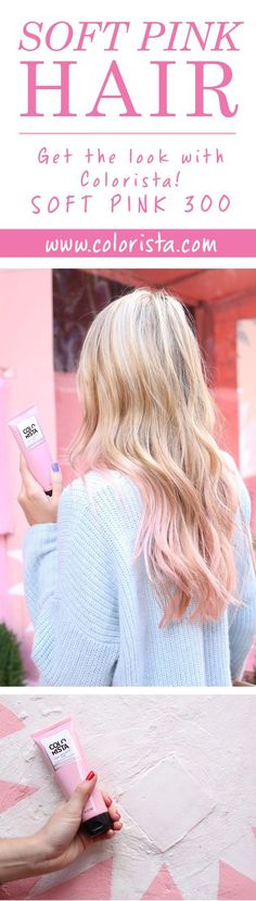 L'Oréal Paris Colorista Semi Permanent Hair Color allows you to play with COLOR YOUR WAY. Go all out or flirt with color by customizing your look and transforming your style. Try it in Soft Pink 300. # exercise regimen for weight loss