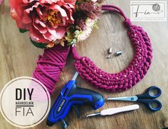 DIY Náhrdelník zo zvyškov priadze Crochet Necklace, Blog, Diy, Jewelry, Jewlery, Crochet Collar, Bricolage, Jewels, Blogging