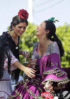El Martes de Feria, en imágenes Costumes Around The World, Country Scenes, Spanish Style, Traditional Outfits, Fashion Art, Spain, Fashion Dresses, Dance, My Style