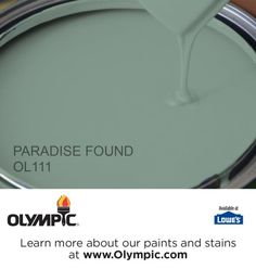 PARADISE FOUND OL111 is a part of the greens collection by Olympic® Paint.