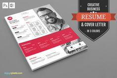 Resume Template in MS Word And PSD by ZippyPixels on @creativework247