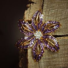Spring Flower Brooch antique vintage styled by Craft365com on Etsy