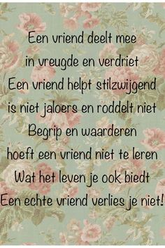 Dutch Words, Work Hard In Silence, Dutch Quotes, Like Quotes, Special Words, Love You, My Love, Friends Forever, Friendship Quotes