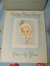 1941 Unused Baby Book, Baby's Own Story Year by Year, Cecile Lamb, Whitman